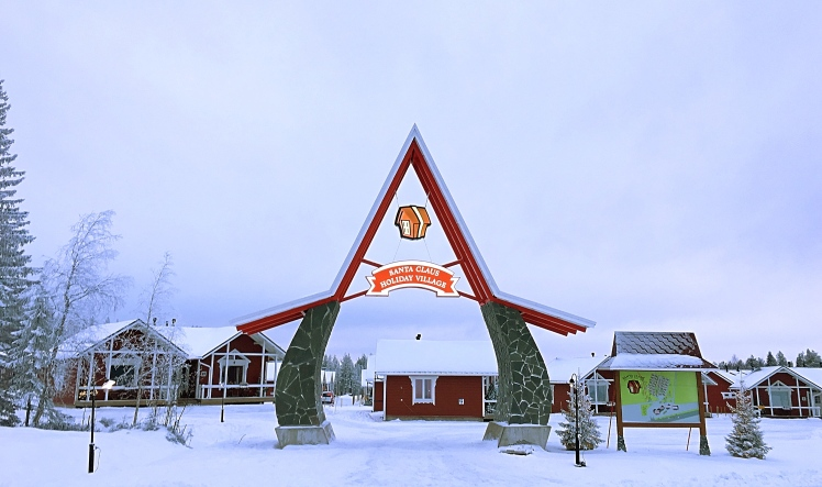 Play Kid For A Day In Santa Claus Village In Rovaniemi