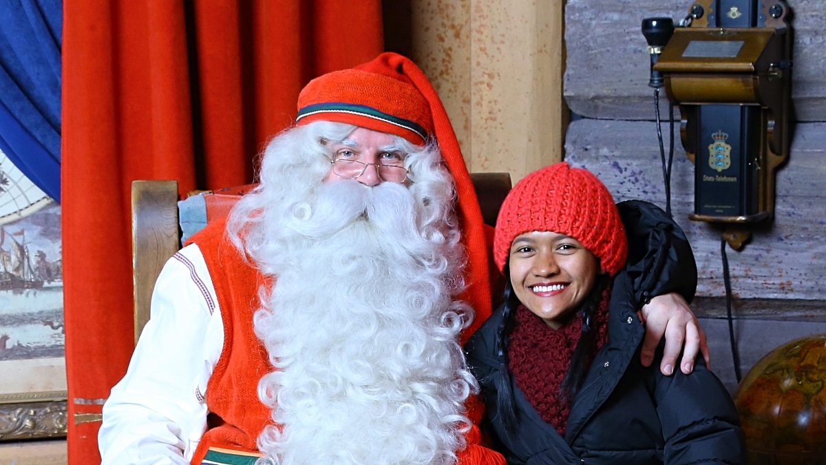 Play Kid for a Day in Santa Claus Village in Rovaniemi, Finland