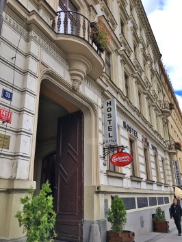 Entrance of A Plus Hotel & Hostel, Prague, Czech Republic