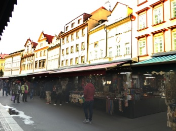Street Market in Prague, Czech Republic