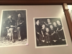 Freud and his dad (left) and siblings (right)