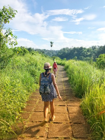 At some places we can also walk in Bali!